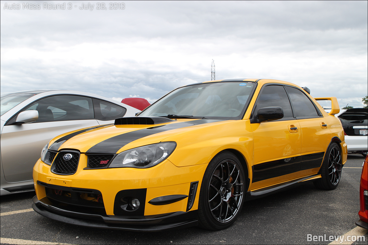 yellow wrx sti  stripes benlevycom