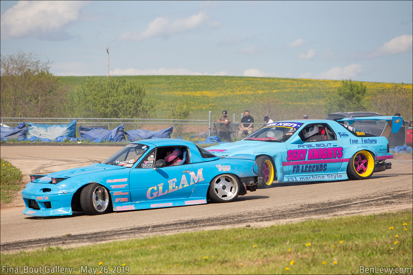 Miata and RX-7 drifting at Final Bout Gallery - BenLevy com