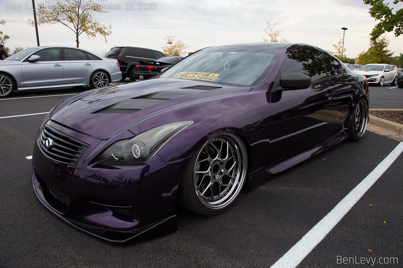 Purple Infiniti G37 coupe - BenLevy.com