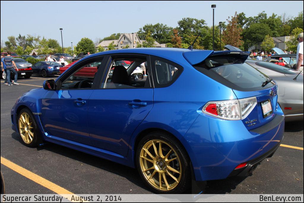 Blue Subaru Wrx Hatchback Benlevy Com