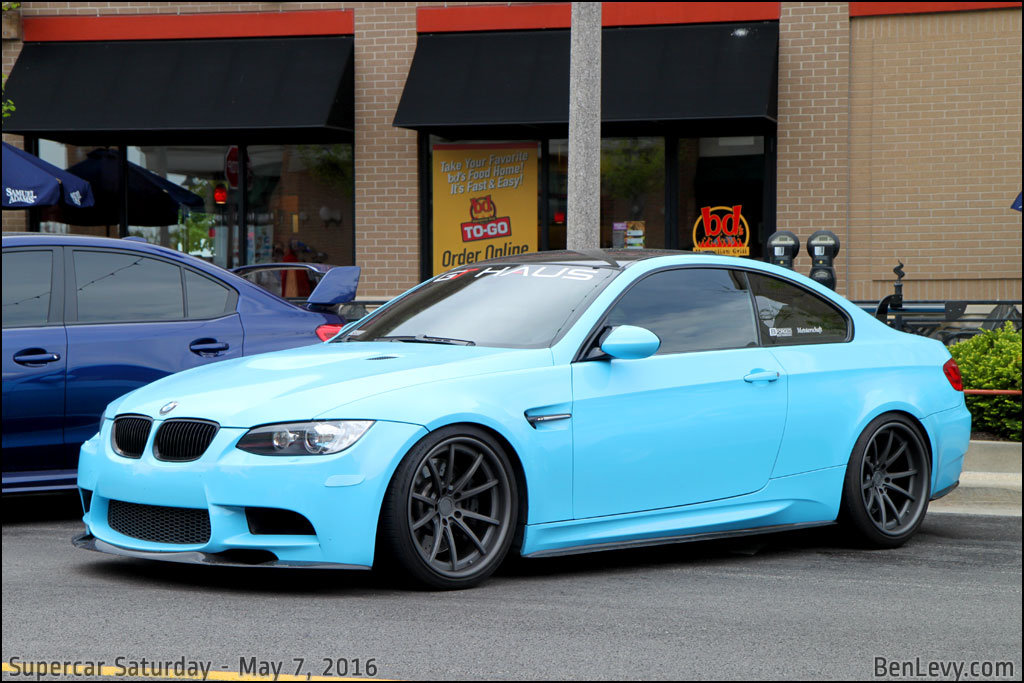 Baby Blue BMW M3 coupe - BenLevy.com