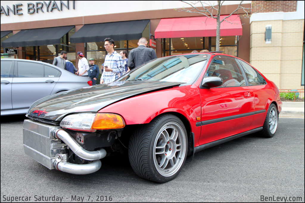 Mercedes Benz Coupe >> Honda Civic coupe with exposed front mount intercooler ...