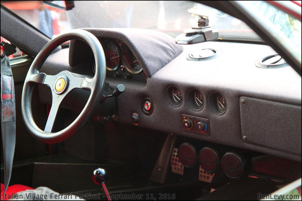 Ferrari F40 Interior - BenLevy.com