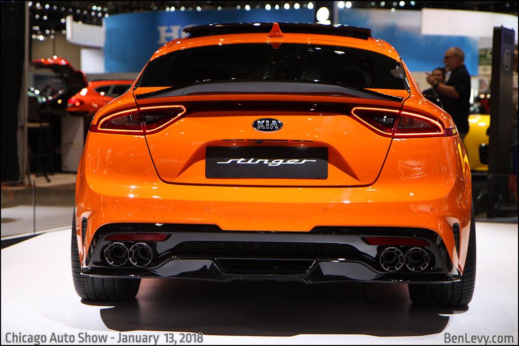 Nissan Sports Car >> Orange Kia Stinger rear - BenLevy.com