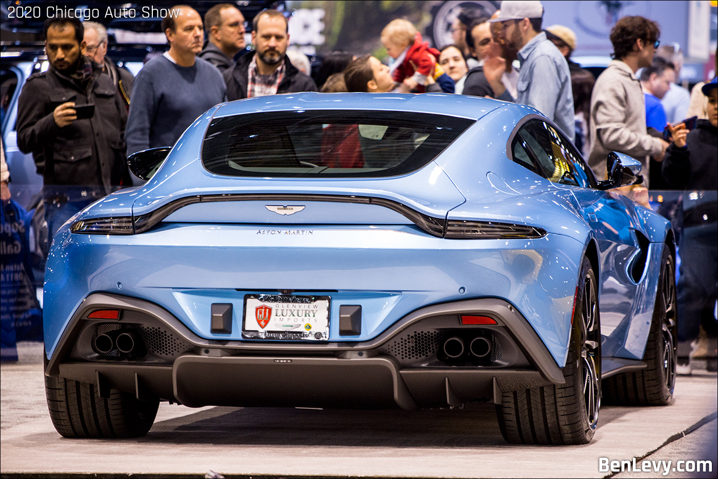 Aston Martin Vantage Coupe In Special Blue Benlevy Com