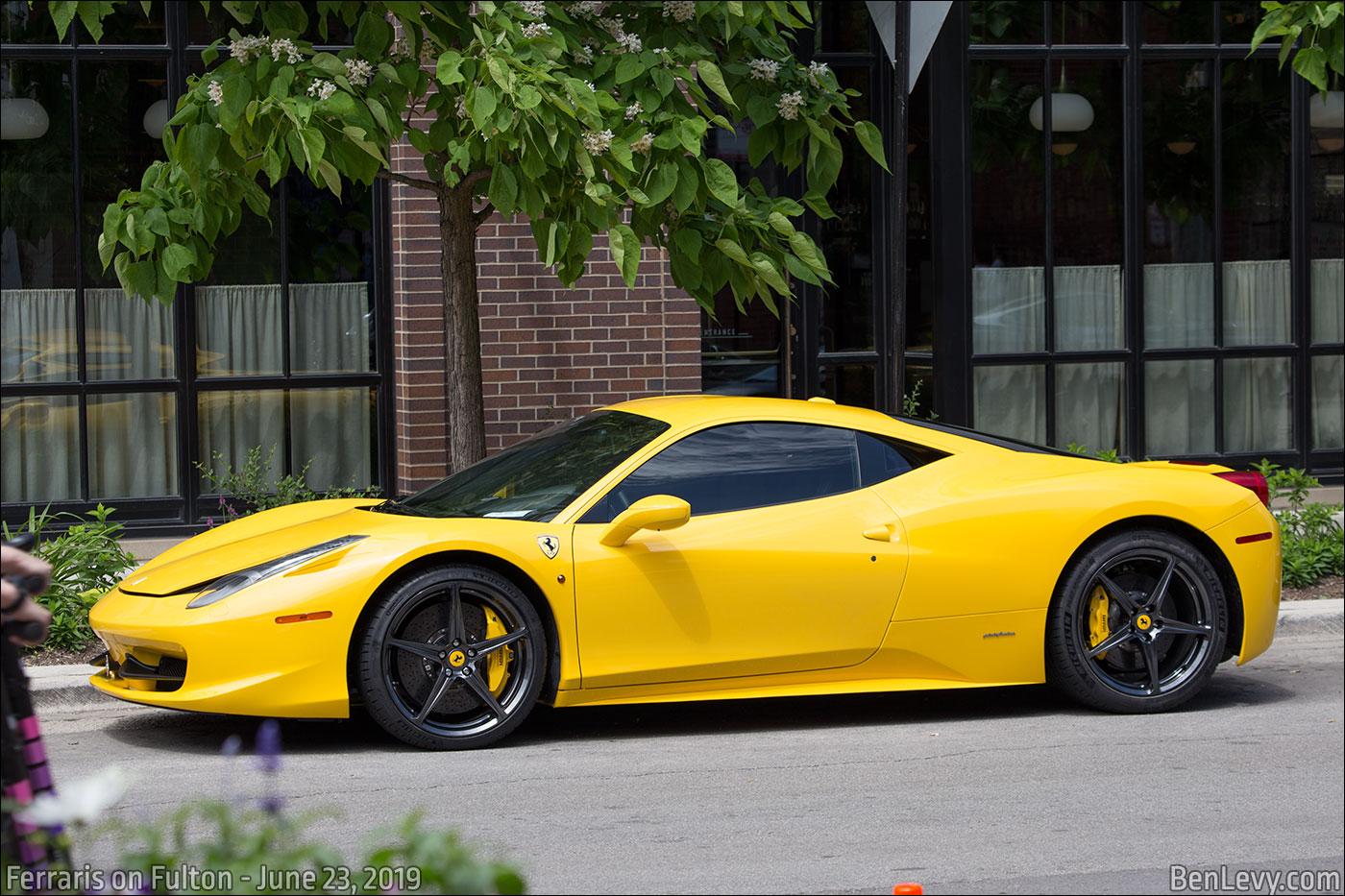 Yellow Ferrari 458 Italia Benlevy Com