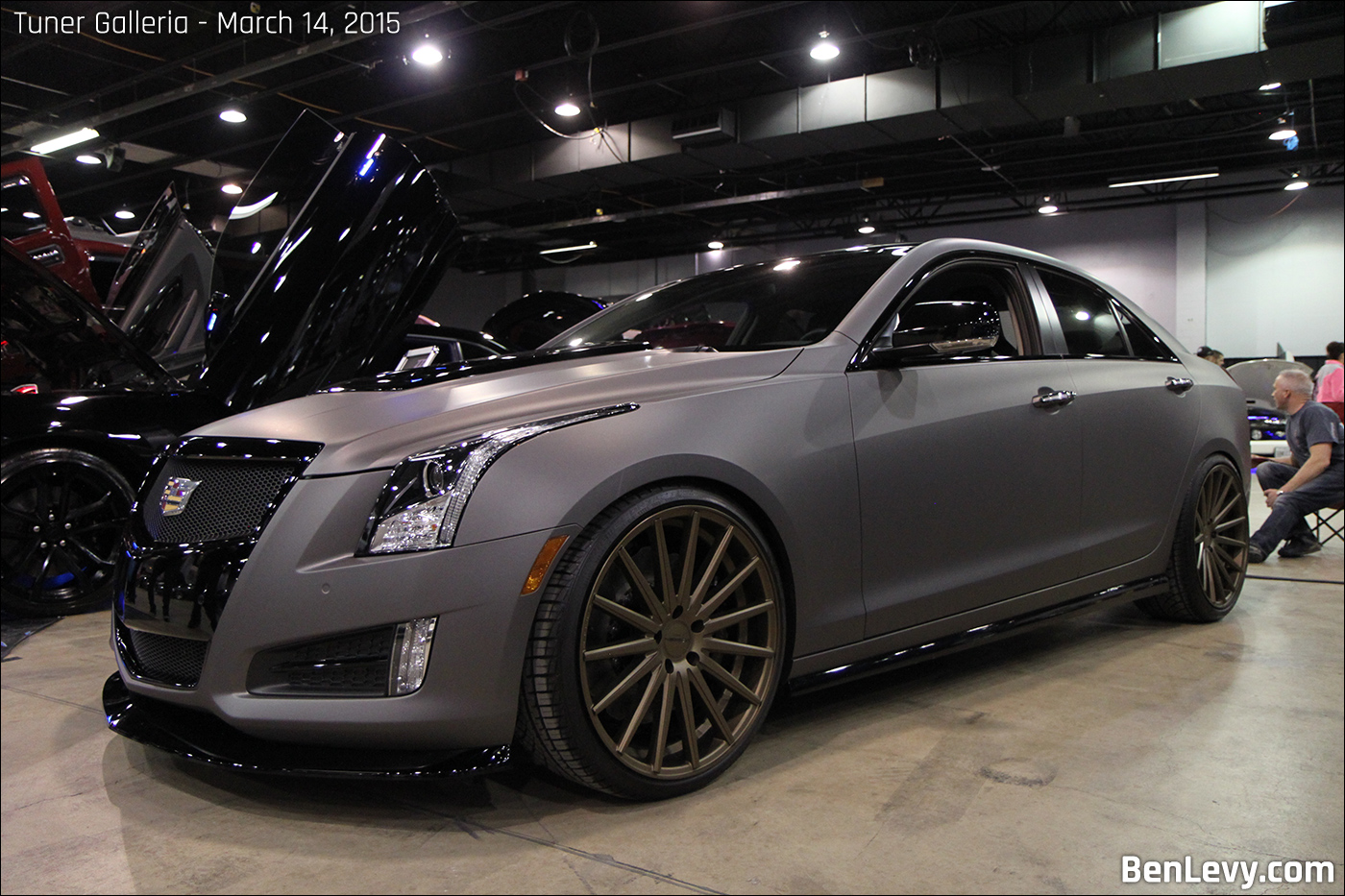 2014 Cadillac Ats With Wraptek Charcoal Metallic Vinyl